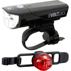 CatEye GVOLT20RC HL-EL350GRC + LOOP2G SL-LD140GRC Beleuchtungsset schwarz